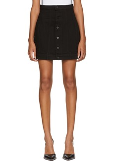 Alexander Wang Black Seamed Denim Skirt