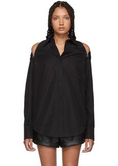 Alexander Wang Black Shoulder Zippers Shirt