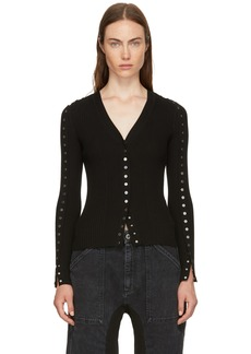 Alexander Wang Black Snap Fitted Cardigan