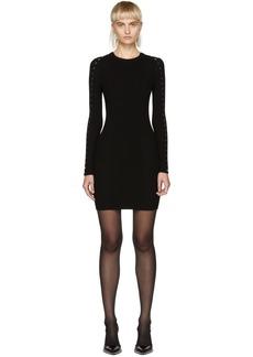 Alexander Wang Black Splittable Snap Dress