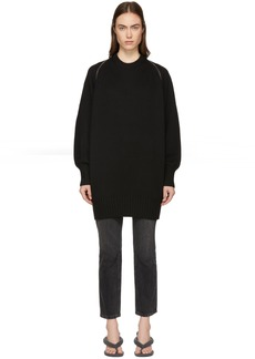 Alexander Wang Black Splittable Zip Crewneck Sweater