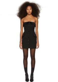 Alexander Wang Black Strapless Tuxedo Dress