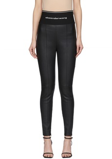 Alexander Wang Black Stretch Leather Leggings