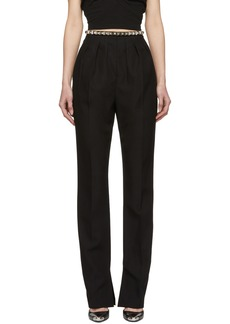 Alexander Wang Black Studded Pleated Trousers