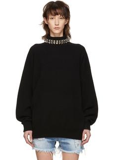 Alexander Wang Black Studded Turtleneck Pullover