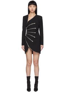 Alexander Wang Black Sunburst Zip Dress