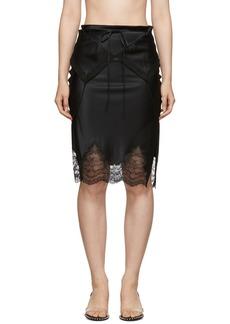 Alexander Wang Black Tie Fold Over Slip Skirt