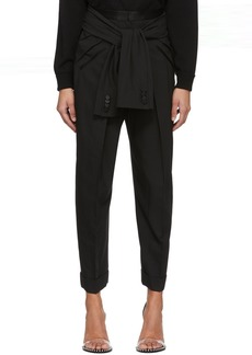 Alexander Wang Black Tie Waist Tuxedo Trousers