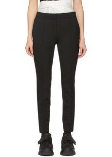 Alexander Wang Black Wool Zipper Detail Trousers