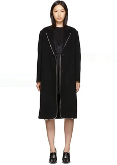 Alexander Wang Black Zipper Splittable Coat