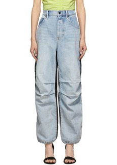 Alexander Wang Blue & Black Pack Mix Hybrid Jeans