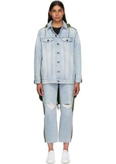 Alexander Wang Blue & Green Daze Mix Jacket
