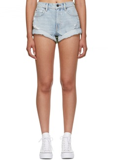 Alexander Wang Blue & Green Hike Mix Shorts