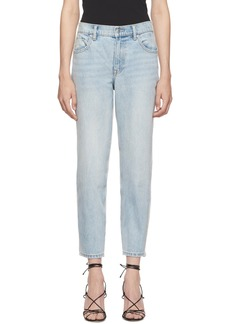 Alexander Wang Blue & Grey Ride Clash Jeans