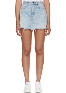 Alexander Wang Blue Bite Denim Miniskirt