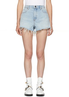 Alexander Wang Blue Bite Shorts