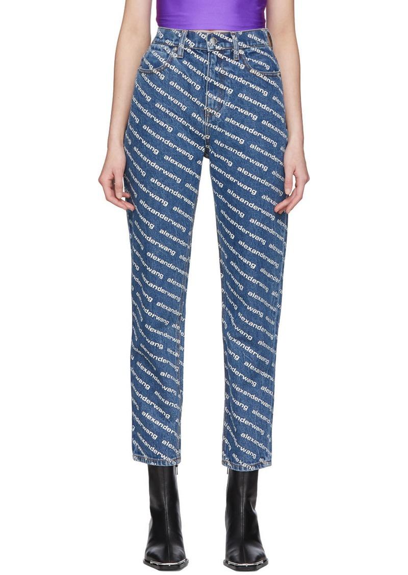 Alexander Wang Blue Bluff Classic High-Rise Jeans