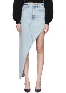 Alexander Wang Blue Denim Asymmetrical Skirt