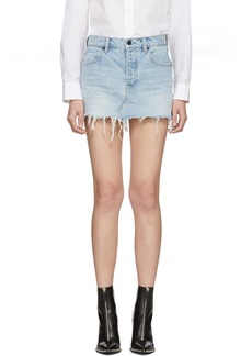Alexander Wang Blue Denim Five-Pocket Zip Miniskirt