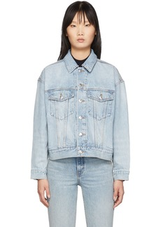 Alexander Wang Blue Denim Game Jacket