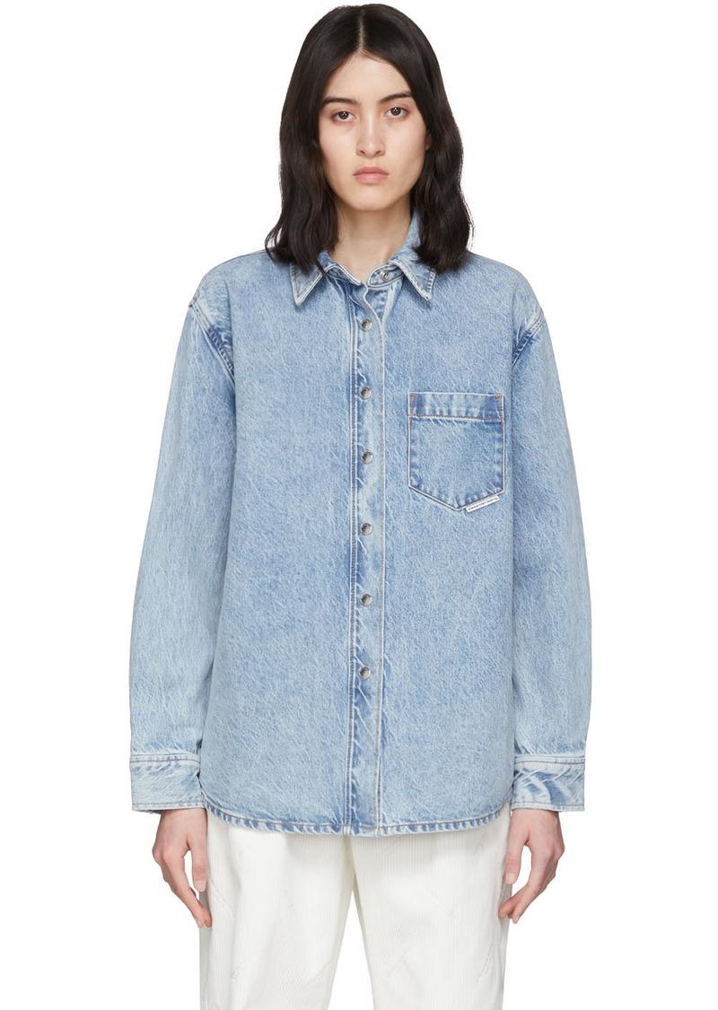 Alexander Wang Blue Denim Oversized Shirt