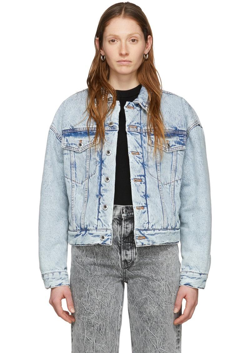 Alexander Wang Blue Denim Padded Trucker Jacket