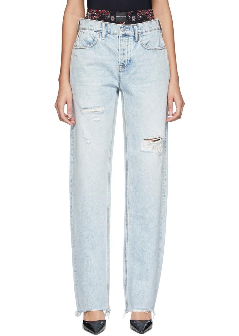 Alexander Wang Blue Rival Mix Jeans