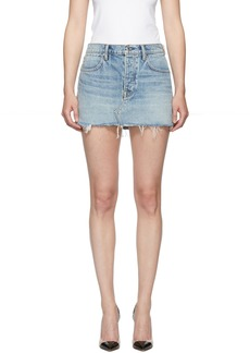 Alexander Wang Blue Snip Zip Skirt