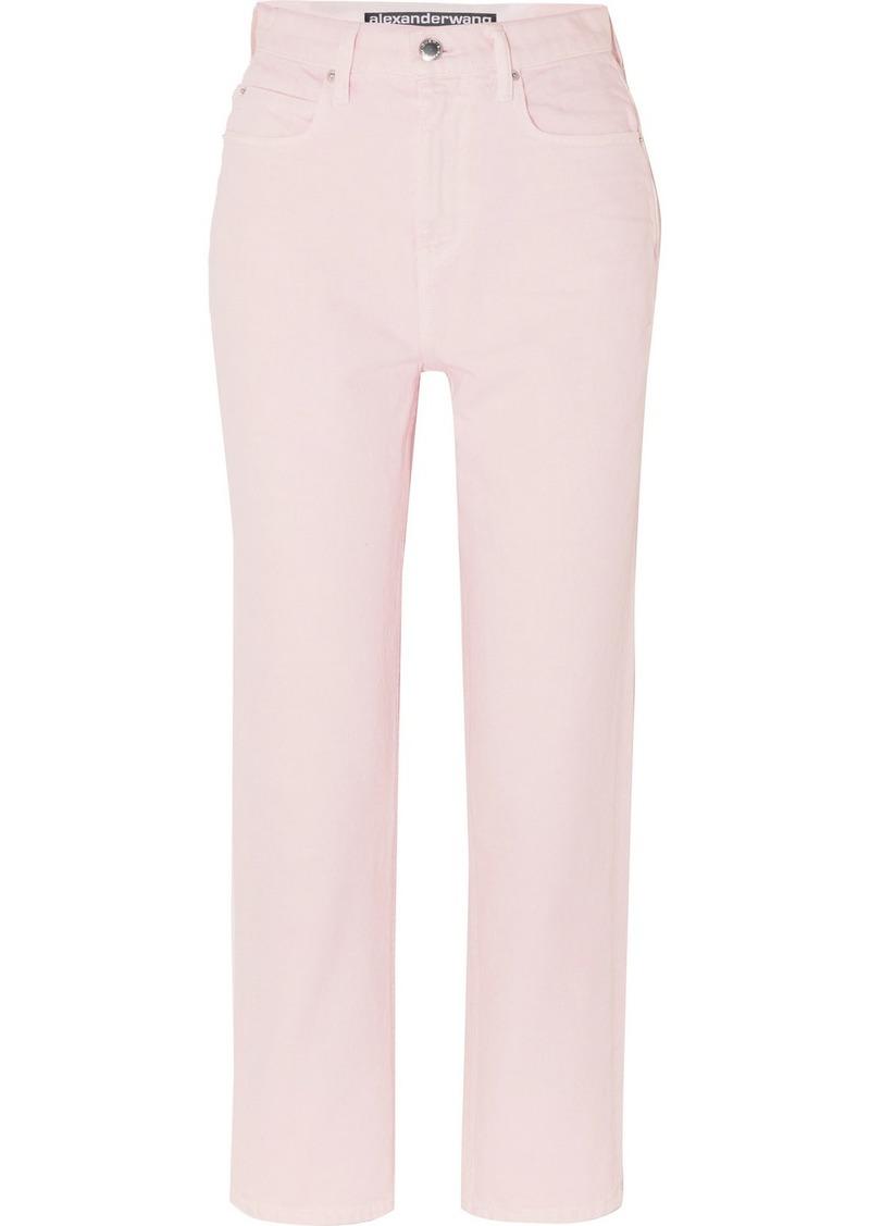 Alexander Wang Bluff High-rise Straight-leg Jeans