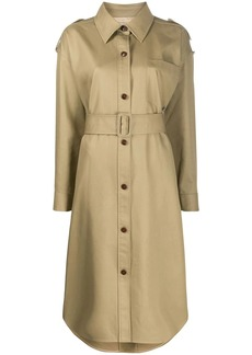 Alexander Wang button down belted trench coat