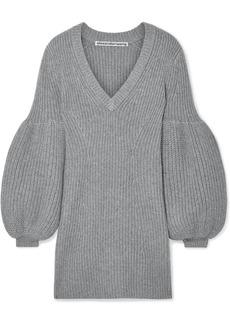 Alexander Wang Cable-knit Wool-blend Mini Dress