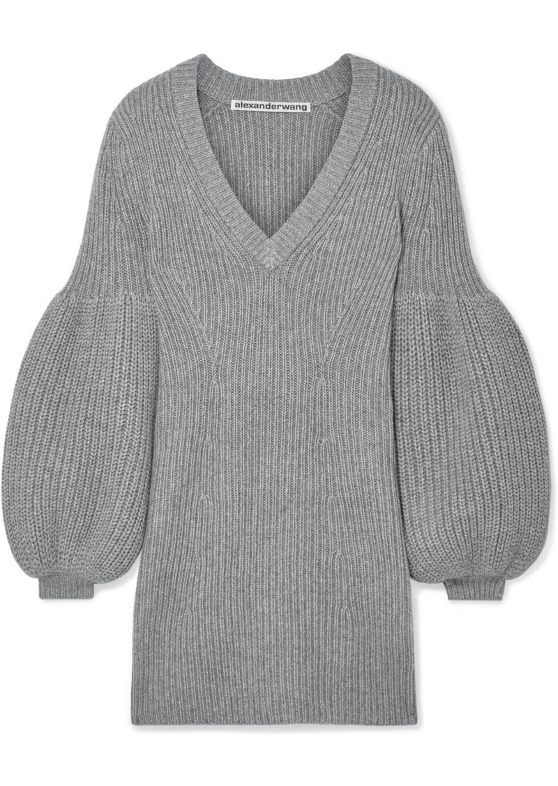 Alexander Wang Cable-knit Wool-blend Mini Dress