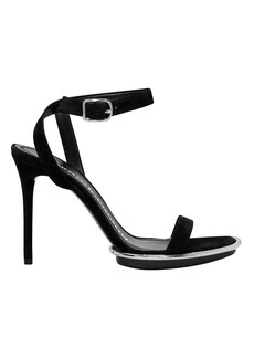 Alexander Wang Cady Suede Heeled Sandals