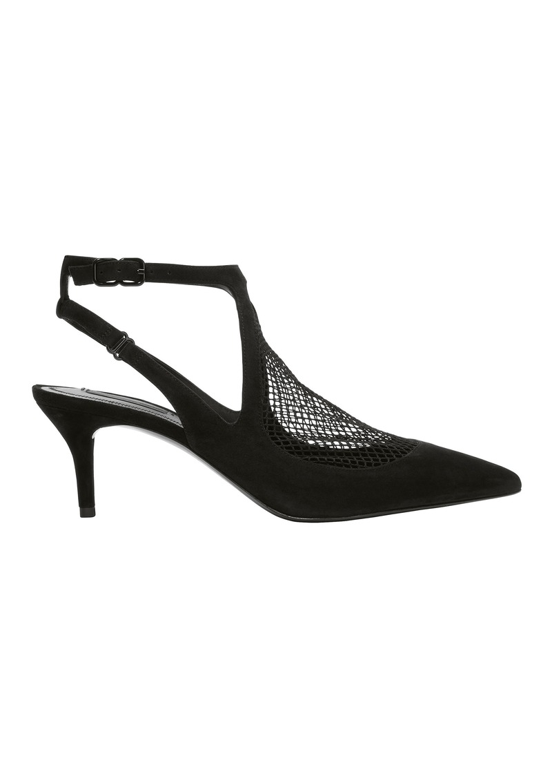 Alexander Wang Cecile Fishnet Kitten Heel Pumps