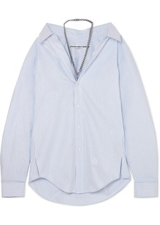 Alexander Wang Chain-embellished Striped Cotton-poplin Shirt