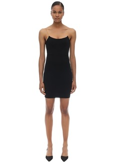 Alexander Wang Chained Stretch Jersey Mini Dress