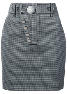 Alexander Wang checked fitted mini skirt
