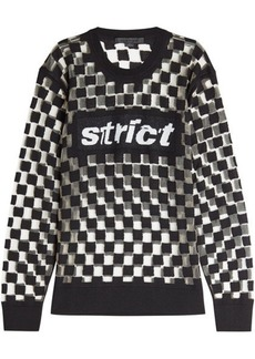 Alexander Wang Checkerboard Wool Pullover