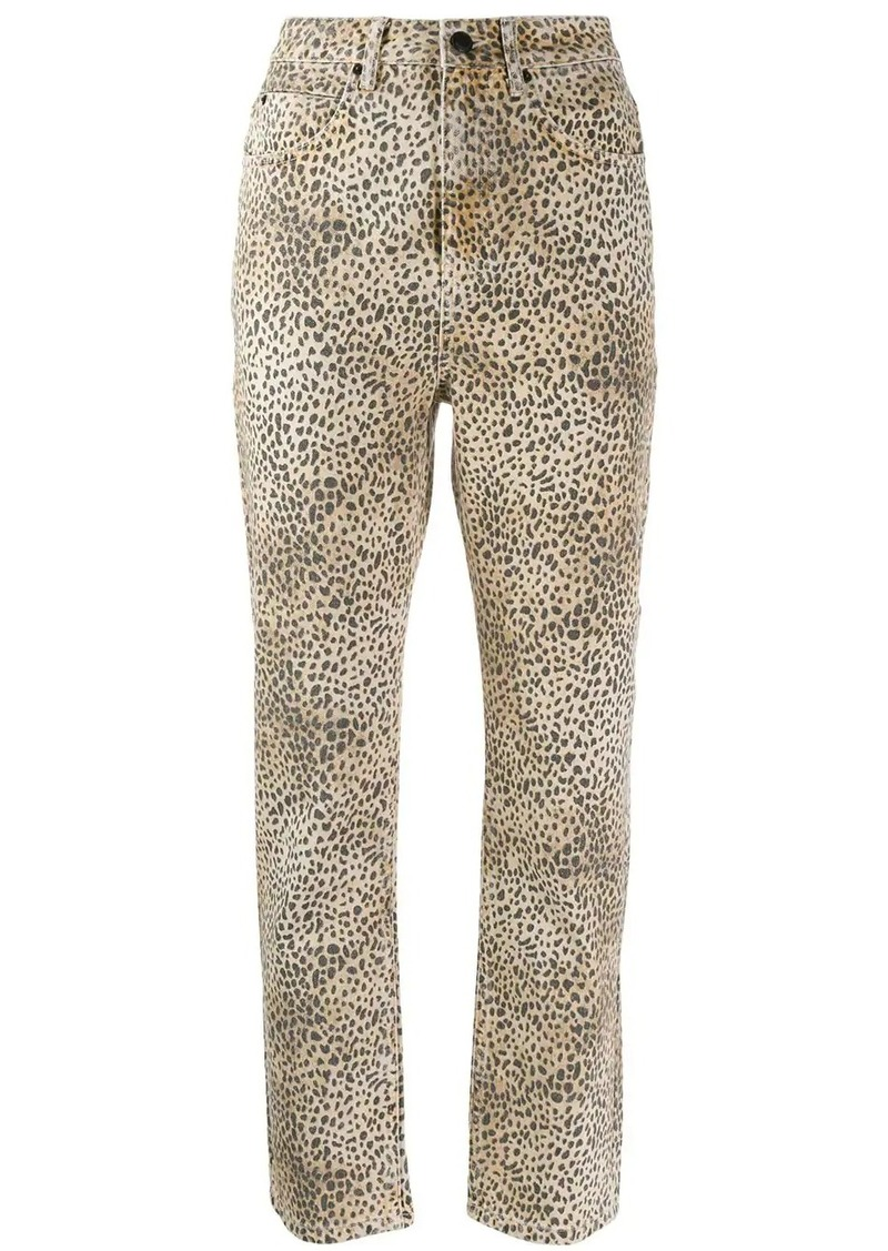 Alexander Wang cheetah print trousers