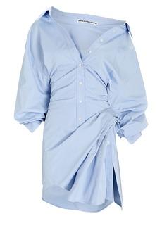 Alexander Wang Cinched Cotton Shirt Dress