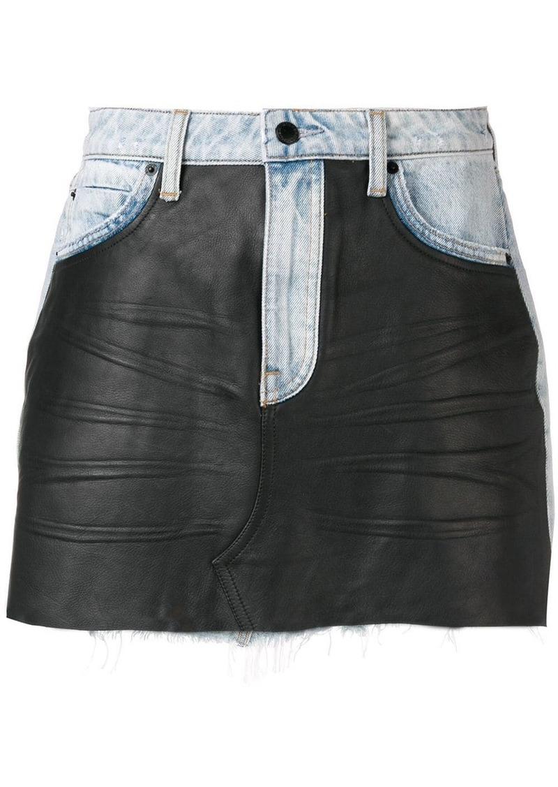 Alexander Wang combined mini skirt