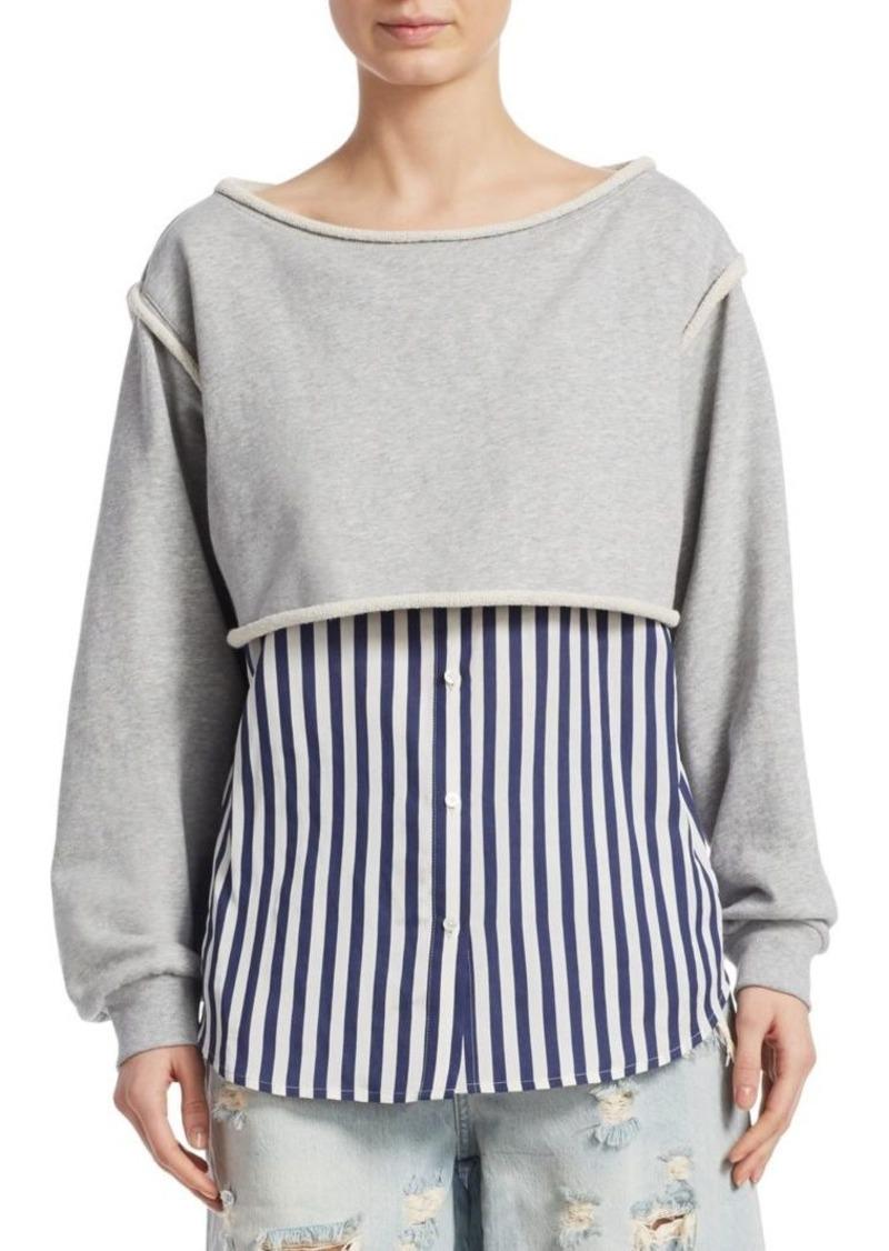Alexander Wang Combo Bottom Sweatshirt