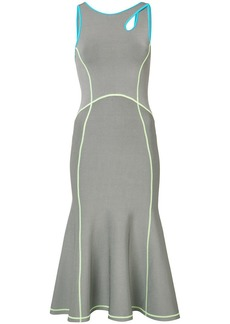 Alexander Wang contrast seam fitted dress