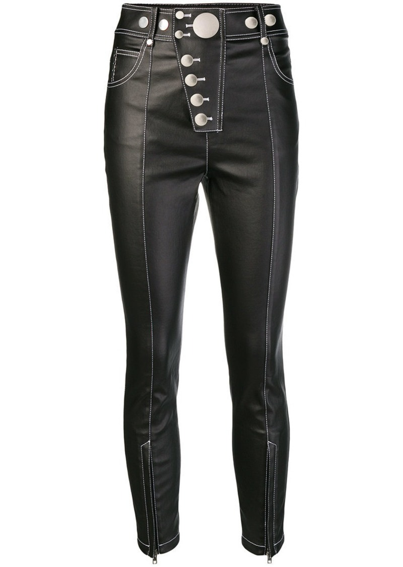 Alexander Wang contrast stitch trousers