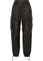 Alexander Wang Convertible Leather Cargo Pants
