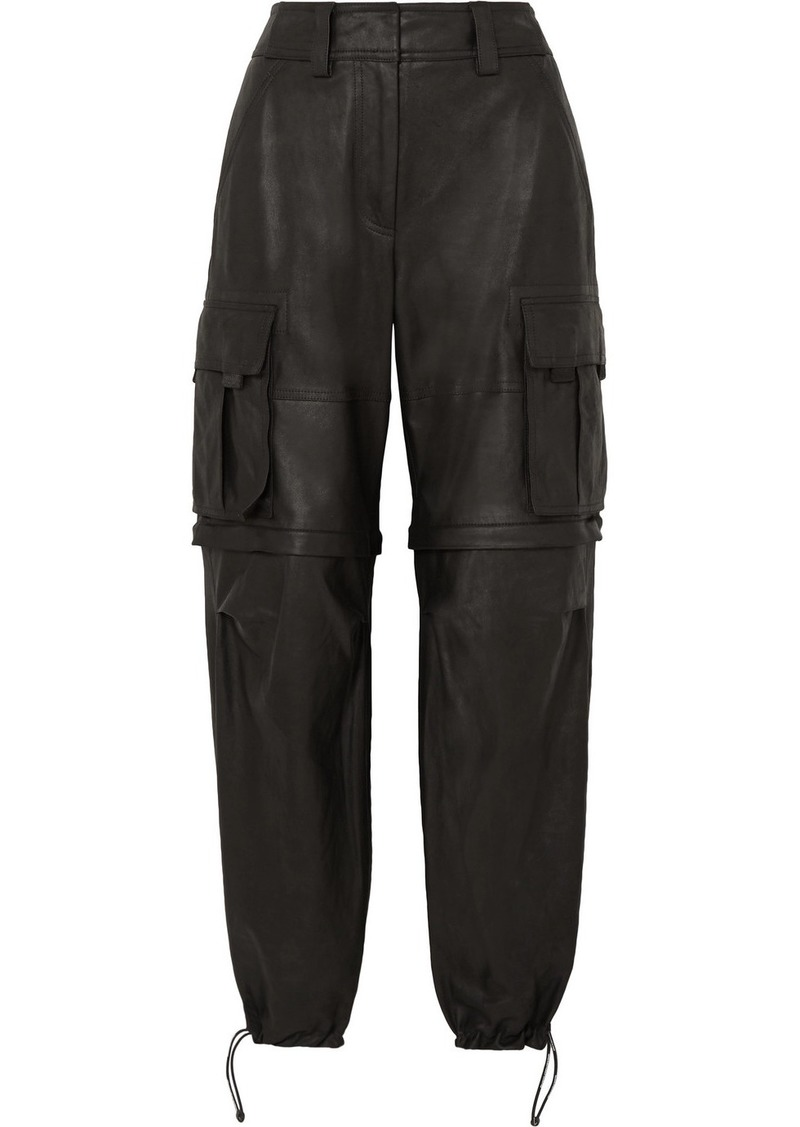 Alexander Wang Convertible Leather Cargo Pants