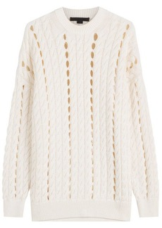 Alexander Wang Cotton Pullover with Cut-Out Detail