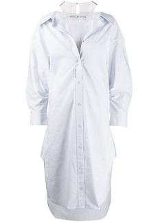 Alexander Wang cotton striped shirt dress