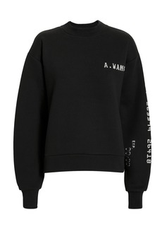 Alexander Wang Credit Card Logo Sweatshirt
