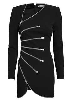 Alexander Wang Crepe Sunburst Zip Mini Dress